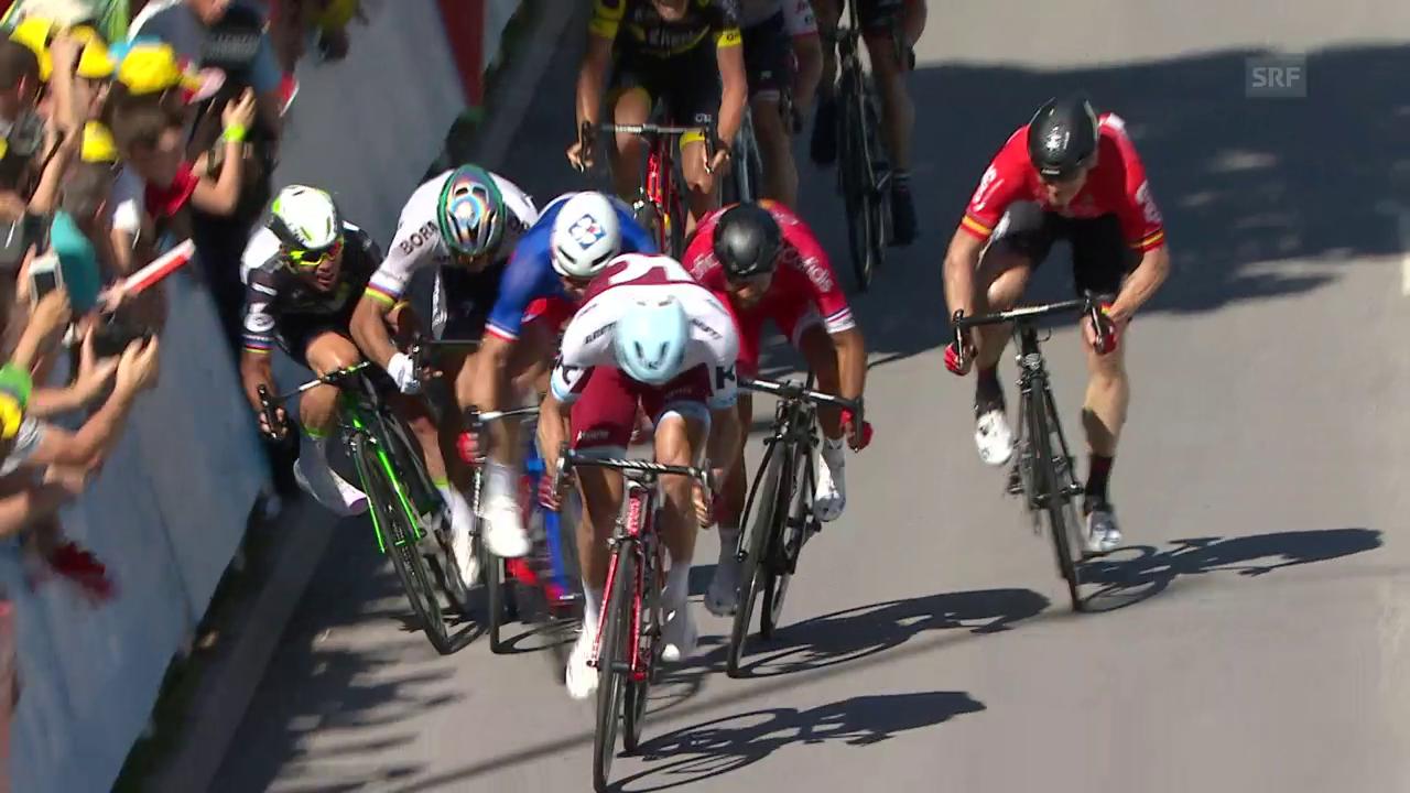 Der Rempler von Sagan gegen Cavendish