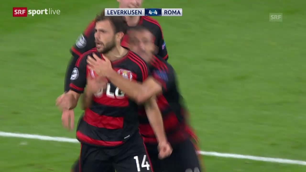 Fussball: Champions League, 3. Runde, Leverkusen - Roma