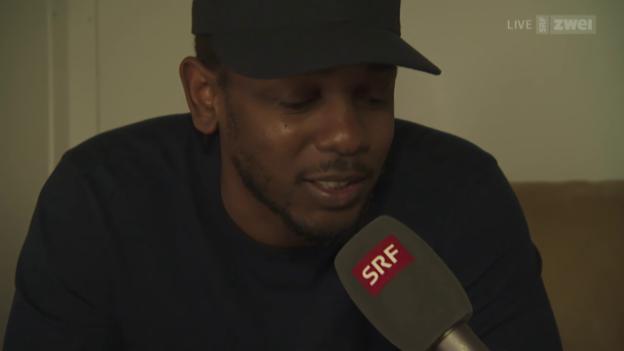 Video «Interview mit Kendrick Lamar - Openair Frauenfeld 2015» abspielen