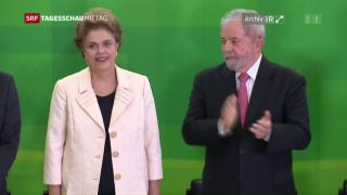 Video «Dilma Rousseff vielleicht bald abgesetzt» abspielen