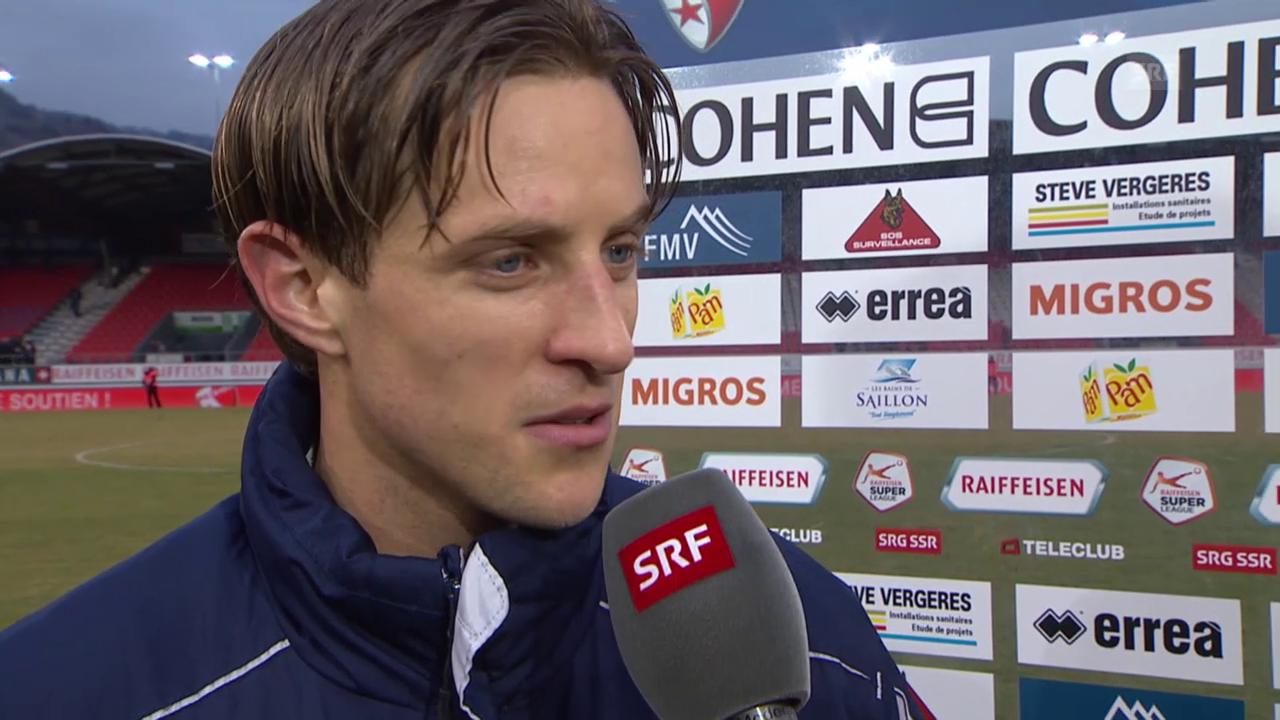 Fussball: SL, Sion - Luzern, Interview Reto Ziegler