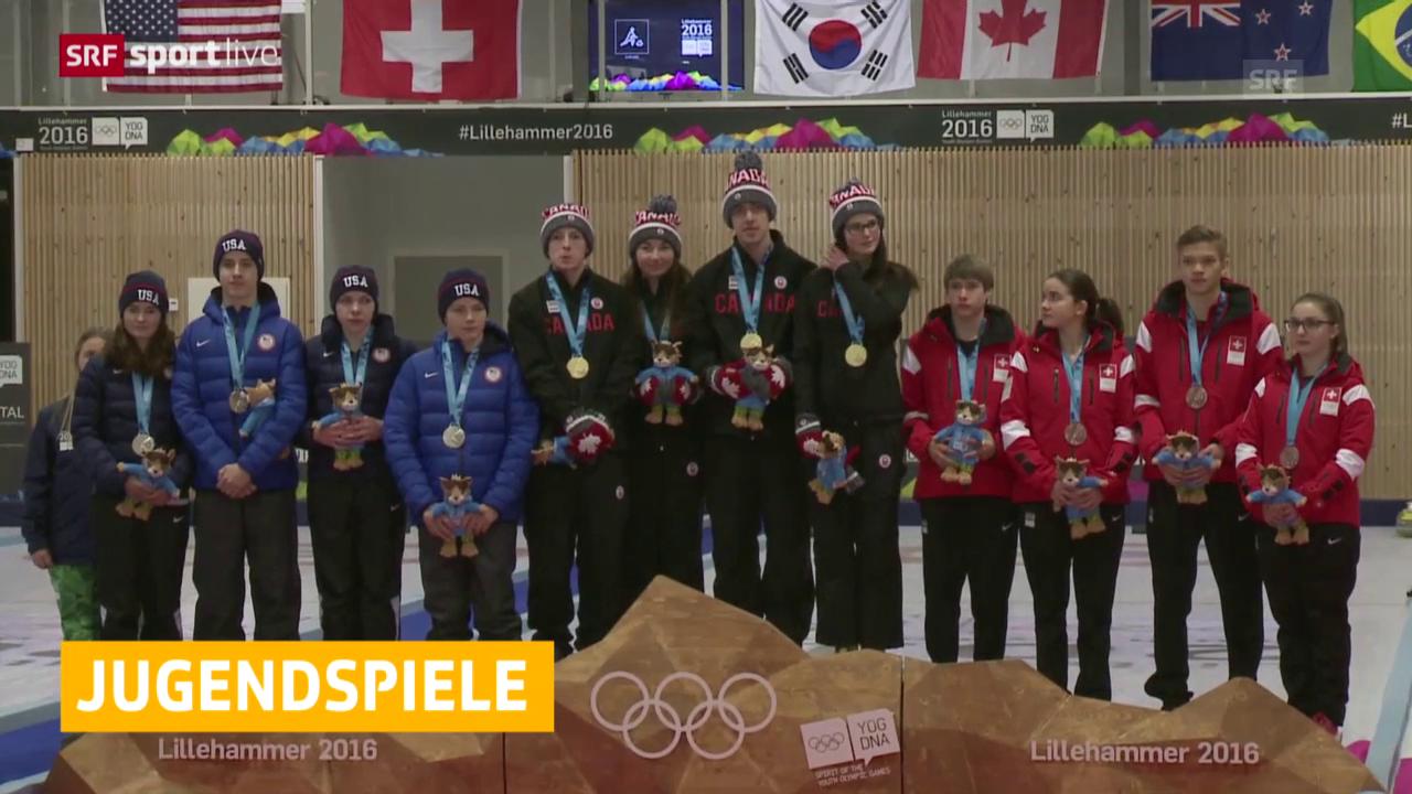 Das Schweizer Mixed-Team gewinnt Bronze im Curling