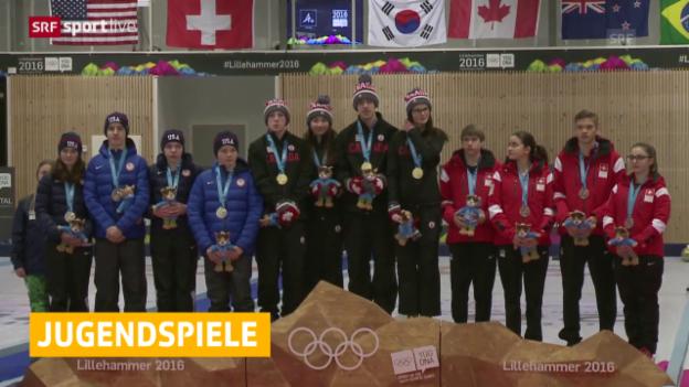 Video «Das Schweizer Mixed-Team gewinnt Bronze im Curling» abspielen