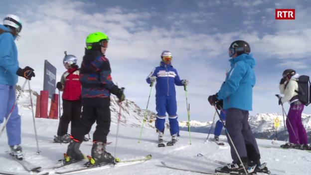 "Laschar ir video «Il champ da skis a Puntraschigna - il champ giubilar da 75 onns ""JuSkiLa""»"