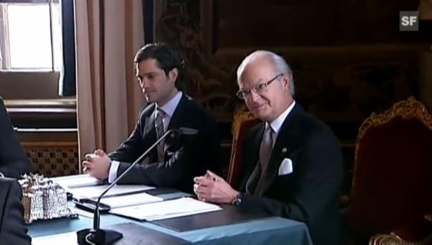 Video «König Carl Gustaf gibt Namen und Titel seiner Enkelin bekannt.» abspielen
