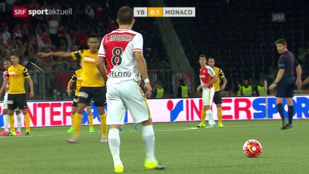 Video «Fussball: Zusammenfassung YB-Monaco» abspielen