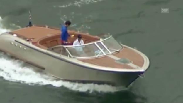 Video «Roger Federer spielt Tennis – auf dem Wasser (unkom. Video)» abspielen