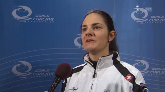 Video «Curling WM: Einschätzung Binia Feltscher (22.03.)» abspielen