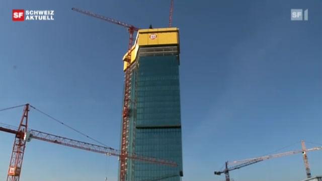 Besuch auf der Baustelle Prime Tower beim Aufrichte-Fest