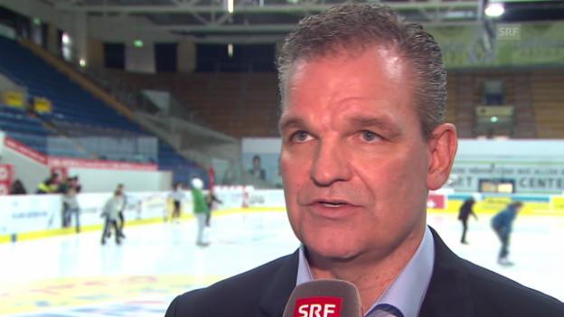 Video «Eishockey: Interview mit dem neuen Kloten-Headcoach Sean Simpson» abspielen