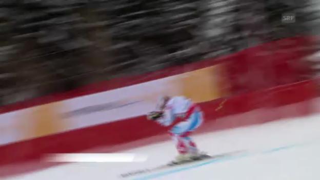 Video «Ski-WM: Super-G, Fahrt von Gauthier de Tessières» abspielen