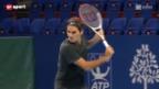 Video «Tennis: Roger Federer trainiert in Basel» abspielen