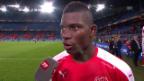 Video «Embolo: «Bin froh, dass ich die Mannschaft erlösen konnte»» abspielen