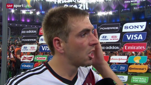 Video «FIFA WM 2014: Interview mit Philipp Lahm» abspielen
