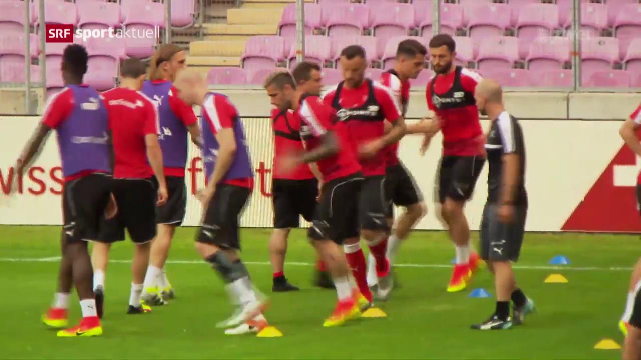 Die Nati vor ihrem Test gegen Belgien
