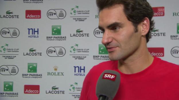 Video «Tennis: Federer: «Es war eine super Woche»» abspielen