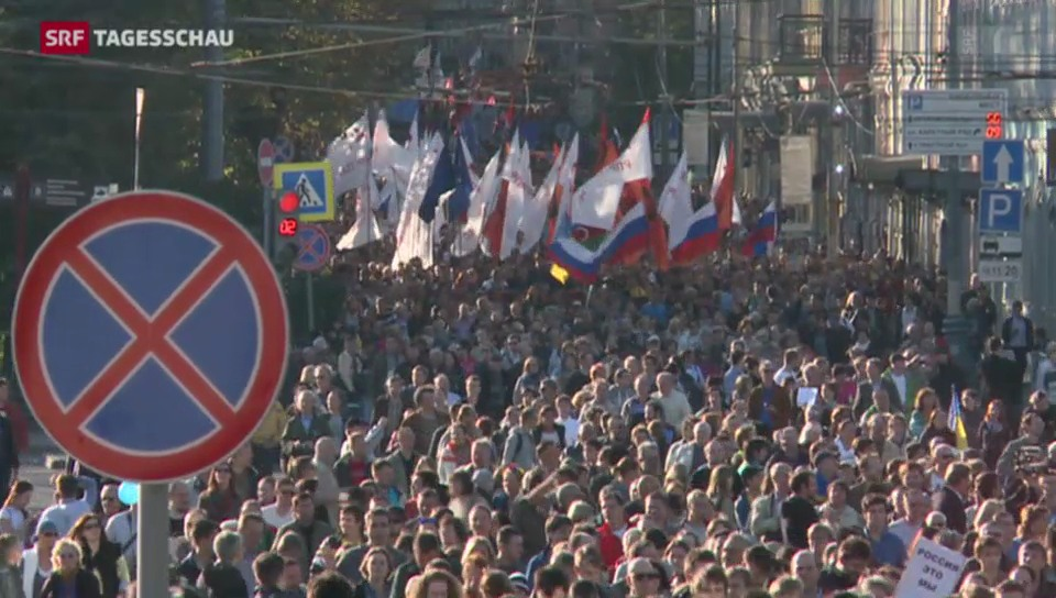 «Nein zum Krieg!» – Friedensmärsche in Russland