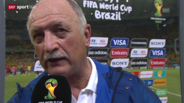Video «Fussball: Interview mit Luiz Felipe Scolari» abspielen