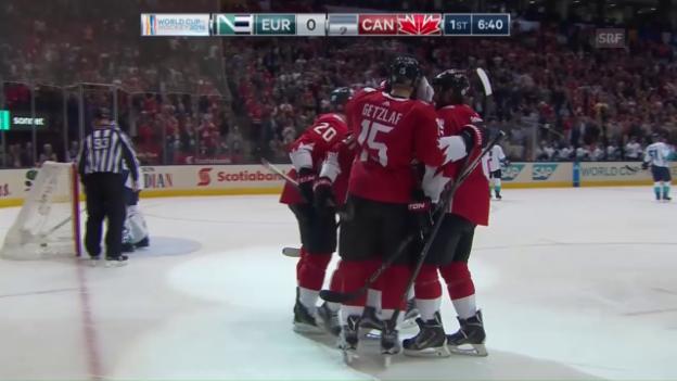 Video «Crosby und Co. gehen gegen Team Europa in Führung» abspielen