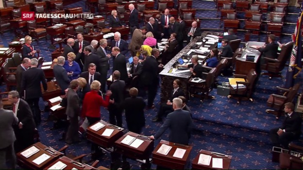 Video «Kongress überstimmt Obamas Veto» abspielen