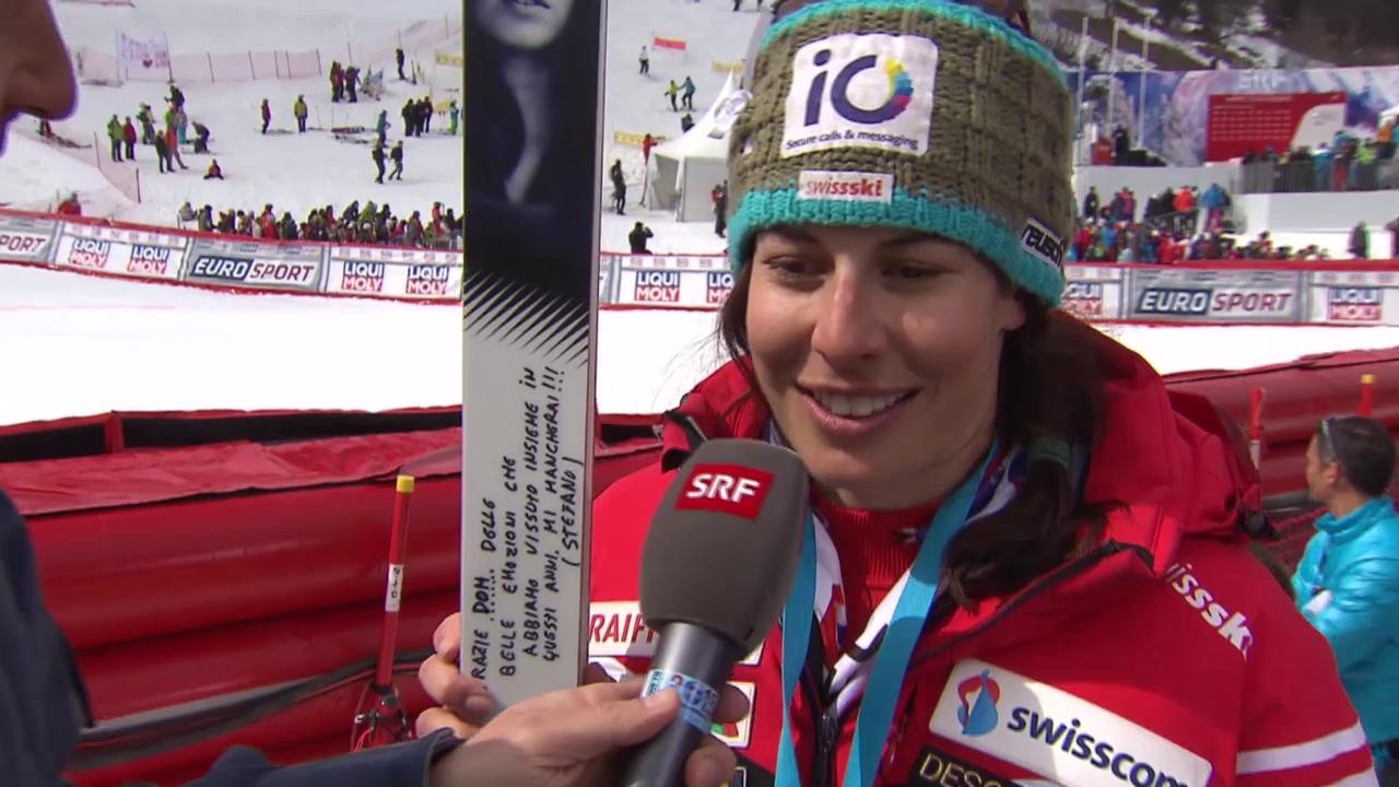 Ski: Weltcupfinale Méribel, Riesenslalom Frauen, Interview Dominique Gisin 2
