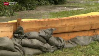 Video «Dauerregen führt zu Hochwasser» abspielen