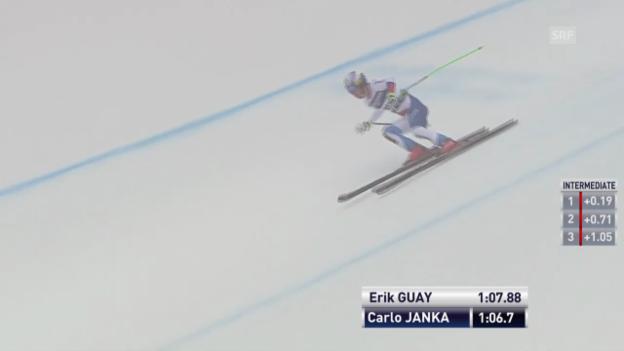 Video «Ski Alpin: Abfahrt Kvitfjell, Fahrt von Janka («sportlive», 01.03.2014)» abspielen