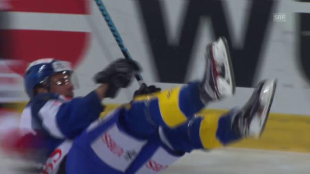 Video «Eishockey: Spengler Cup, Halbfinal, Zusammenfassung Davos - Canada» abspielen