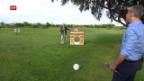 Video «Fussball-Golf: Das Warm-up mit Alain Sutter» abspielen