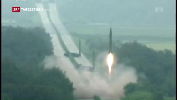 Video «Nordkorea provoziert weiterhin mit Raketentests» abspielen