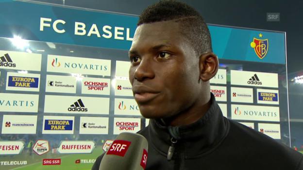 Video «Fussball: Super League, Basel - YB, Interview mit Breel Embolo» abspielen