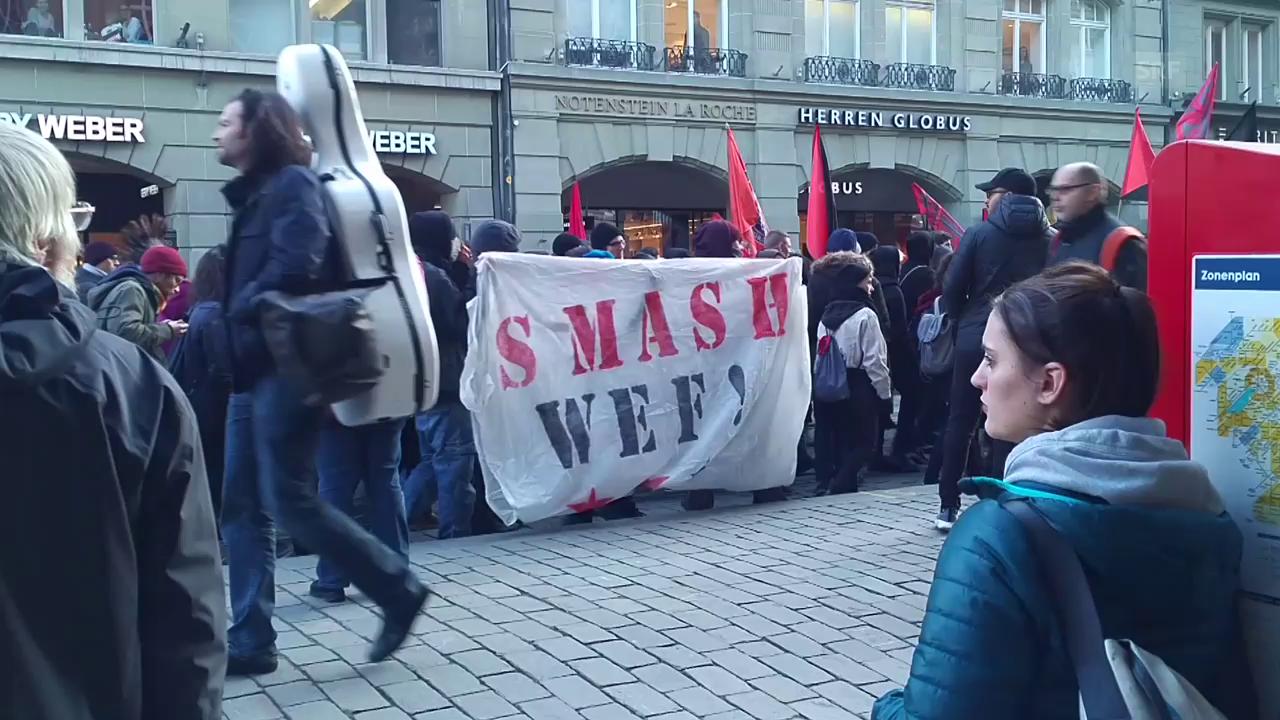 Anti-WEF-Demo in Bern