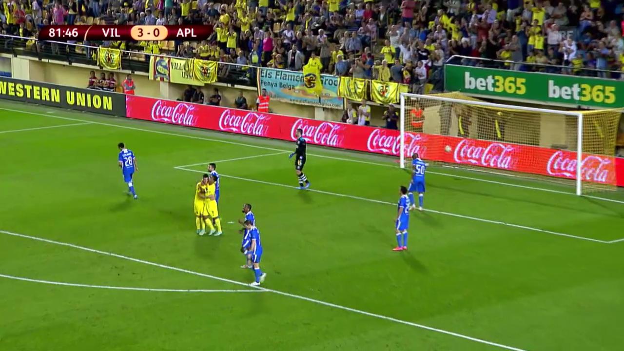 Fussball: Europa League, Zusammenfassung Villarreal - Limassol