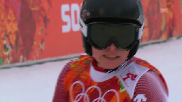 Video «Sotschi: Riesenslalom Frauen, 1. Lauf, Lara Gut (sotschi direkt, 18.2.14)» abspielen