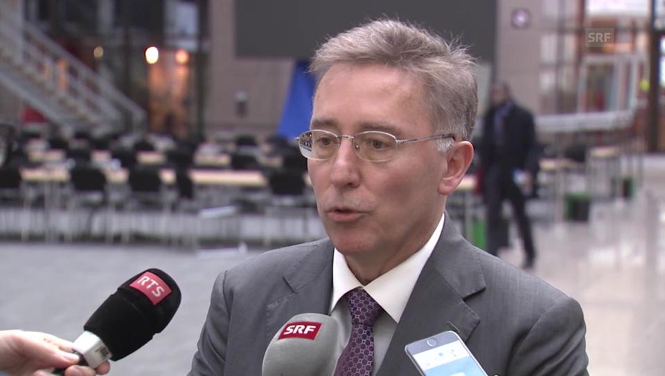 Urs Bucher informiert über Gespräche in Brüssel