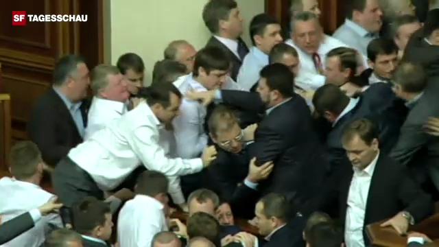Tumulte im ukrainischen Parlament