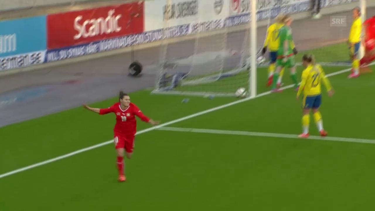 Fussball: Testländerspiel Frauen, Schweden - Schweiz