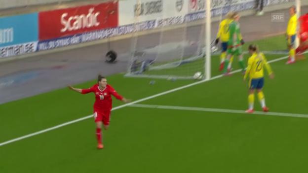 Video «Fussball: Testländerspiel Frauen, Schweden - Schweiz» abspielen
