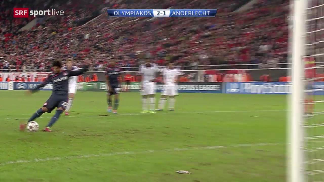 Fussball: Champions League, Olympiakos Piräus - Anderlecht («sportlive», 10.12.2013)