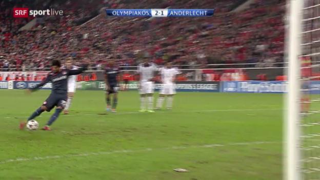 Video «Fussball: Champions League, Olympiakos Piräus - Anderlecht («sportlive», 10.12.2013)» abspielen