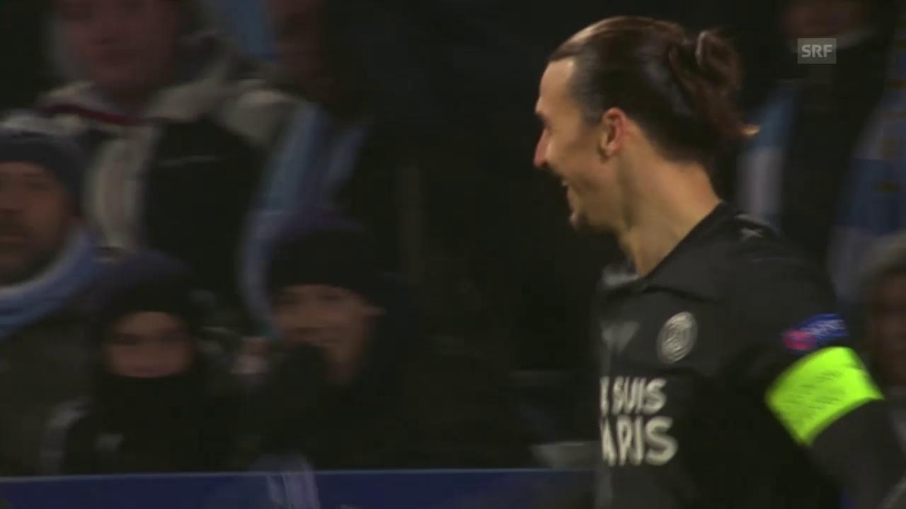 Fussball: Champions League, Malmö - PSG, Ibrahimovics Treffer gegen seinen Ex-Klub