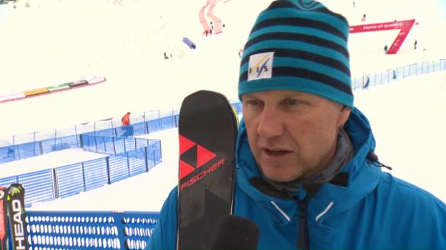Video «Renndirektor Skaardal: «Pistenverhältnisse nicht optimal»» abspielen