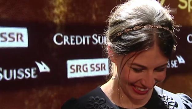 Video «Dominique Gisin über ihr Federer-Selfie» abspielen