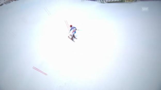 Video «WM-Slalom: 1. Lauf Hirscher» abspielen