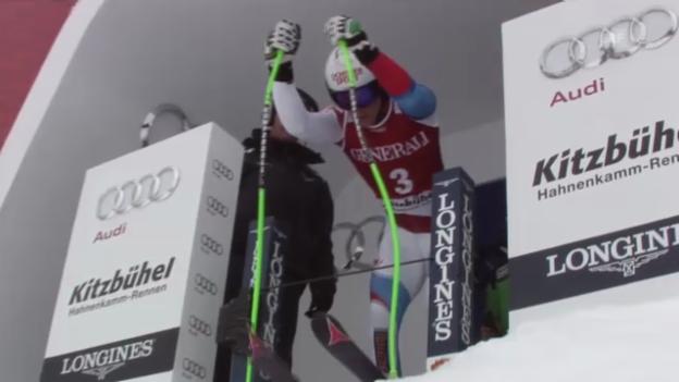 Video «Ski alpin: Jankas Super-G-Fahrt in Kitzbühel («sportlive»)» abspielen