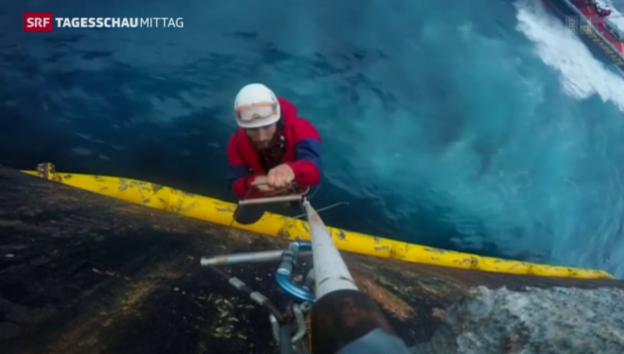 Video «Greenpeace kapert Bohrschiff» abspielen