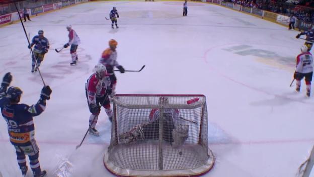 Video «Eishockey: Spiel 3 der Ligaqualifikation, Biel - Visp» abspielen