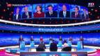 Video «Kandidaten für französisches Präsidentenamt debattieren» abspielen