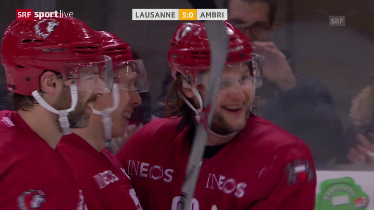Lausanne feiert im letzten Spiel den höchsten Sieg