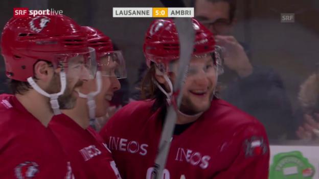 Video «Lausanne feiert im letzten Spiel den höchsten Sieg» abspielen